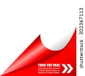folded page corner | Shutterstock .eps vector #302367113