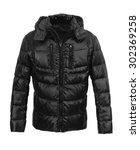 black male winter jacket... | Shutterstock . vector #302369258