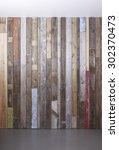 background of reclaimed timber... | Shutterstock . vector #302370473