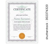 certificate or diploma design... | Shutterstock .eps vector #302376320