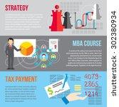 set of flat design concepts of... | Shutterstock .eps vector #302380934