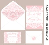 templates of envelops and cards ...   Shutterstock .eps vector #302384999