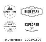 set of outdoor explorer  family ... | Shutterstock .eps vector #302391509