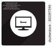 bed. icon. vector design | Shutterstock .eps vector #302397590