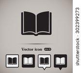 vector icon book | Shutterstock .eps vector #302399273