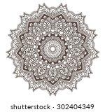ethnic fractal mandala vector... | Shutterstock .eps vector #302404349