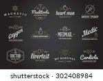 medicine health vector symbols... | Shutterstock .eps vector #302408984