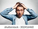 closeup portrait of happy young ... | Shutterstock . vector #302416460