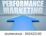 performance marketing   3d...   Shutterstock . vector #302422130