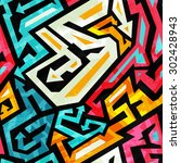 graffiti seamless pattern   Shutterstock .eps vector #302428943