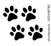 paws print | Shutterstock .eps vector #302438780
