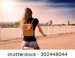 beautiful sensuality elegance... | Shutterstock . vector #302448044