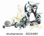 illustration of a woman wearing ... | Shutterstock .eps vector #3024485