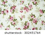 vintage rose pattern on fabric... | Shutterstock . vector #302451764