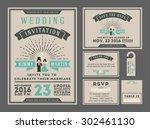 classic vintage sunburst... | Shutterstock .eps vector #302461130