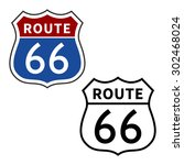 us route 66 highway vector sign