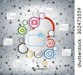 infographic network with...   Shutterstock .eps vector #302473559