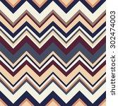 geometric vector pattern in... | Shutterstock .eps vector #302474003