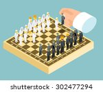 Isometric 3d Business Chess...