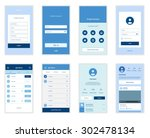 mobile screens user interface... | Shutterstock .eps vector #302478134