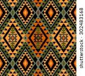 geometric textile seamless...   Shutterstock .eps vector #302483168