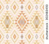 geometric tribal textile... | Shutterstock .eps vector #302483450