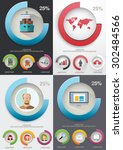 infographic elements. charts... | Shutterstock .eps vector #302484566