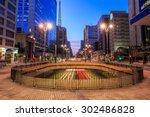 paulista avenue at twilight in... | Shutterstock . vector #302486828