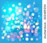 lights boke blur background.... | Shutterstock .eps vector #302489354