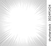 speed radial lines graphic... | Shutterstock .eps vector #302491424