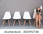 feeling bored of waiting. bored ... | Shutterstock . vector #302492738