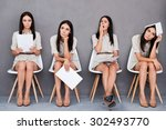 waiting for interview. digital... | Shutterstock . vector #302493770