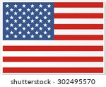 american flag. flag of the... | Shutterstock .eps vector #302495570