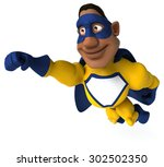 fun superhero | Shutterstock . vector #302502350