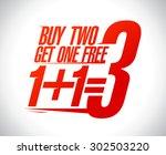 1 1 3 sale design illustration. | Shutterstock .eps vector #302503220