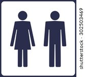 male and female icons isolated... | Shutterstock .eps vector #302503469