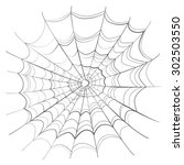 complicated scary spider web... | Shutterstock . vector #302503550