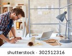 modern architect looking at... | Shutterstock . vector #302512316