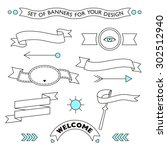 vector set of elements for your ... | Shutterstock .eps vector #302512940