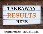 takeaway results here... | Shutterstock . vector #302513636