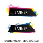 3d shapes for your design.... | Shutterstock .eps vector #302522360