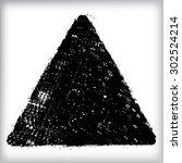 black paint vector triangle . | Shutterstock .eps vector #302524214