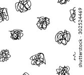 confusion seamless pattern.... | Shutterstock .eps vector #302524469