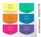template for diagram  graph ... | Shutterstock .eps vector #302527778