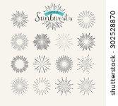 collection of vintage sunburst... | Shutterstock .eps vector #302528870