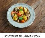 beef mechado   popular tomato... | Shutterstock . vector #302534939