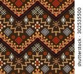 tribal art boho seamless...   Shutterstock .eps vector #302535500