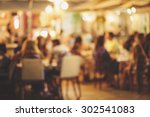 Stock photo blur restaurant vintage effect style picture 302541083