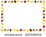 Colored Leaves Frame