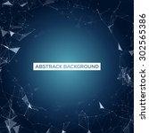 blue mesh vector background  ...   Shutterstock .eps vector #302565386